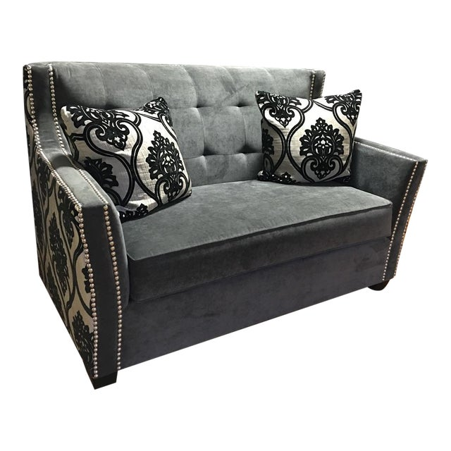 Fleur de Lis Chic Studded Love Seat - Image 1 of 8