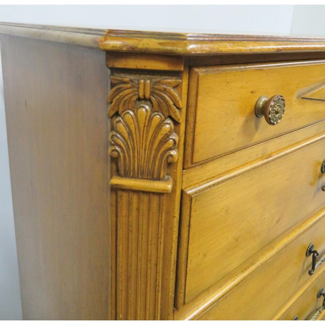 Brown Italian Style Carved 7-Drawer Tall Chest For Sale - Image 8 of 11