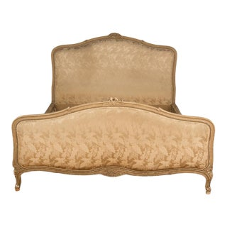 1940s French Louis XV Style Queen Size Bed For Sale