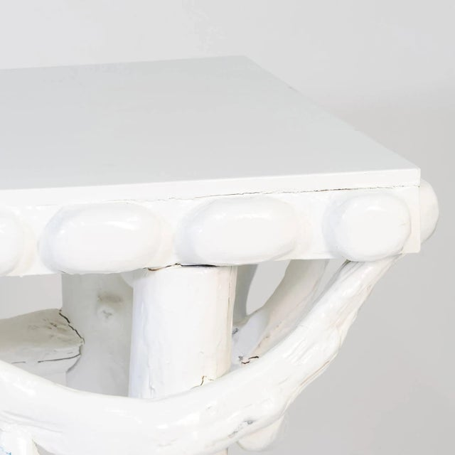 1990s White Lacquered Root Console For Sale - Image 10 of 12