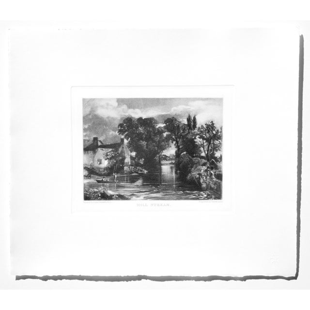 Cotton John Constable & David Lucas Mezzotint Collection From the Tate Gallery in London 1990's - Set of 16 For Sale - Image 7 of 14
