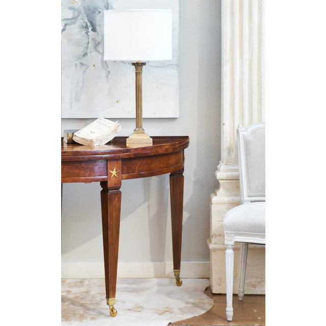 French Directoire Folding Demilune Table - Image 5 of 11