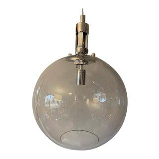 Circa Gable Large Globe Pendant Polished Nickel For Sale