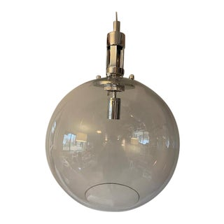 Visual Comfort Gable Large Globe Pendant Polished Nickel For Sale