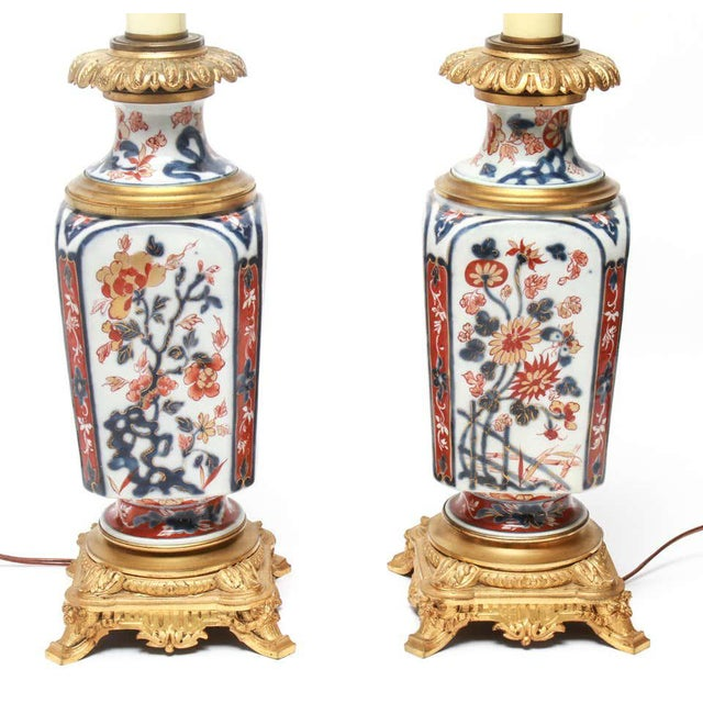 Imari Porcelain Japanese Imari Style Porcelain Table Lamps With Phoenix Motif - a Pair For Sale - Image 4 of 5