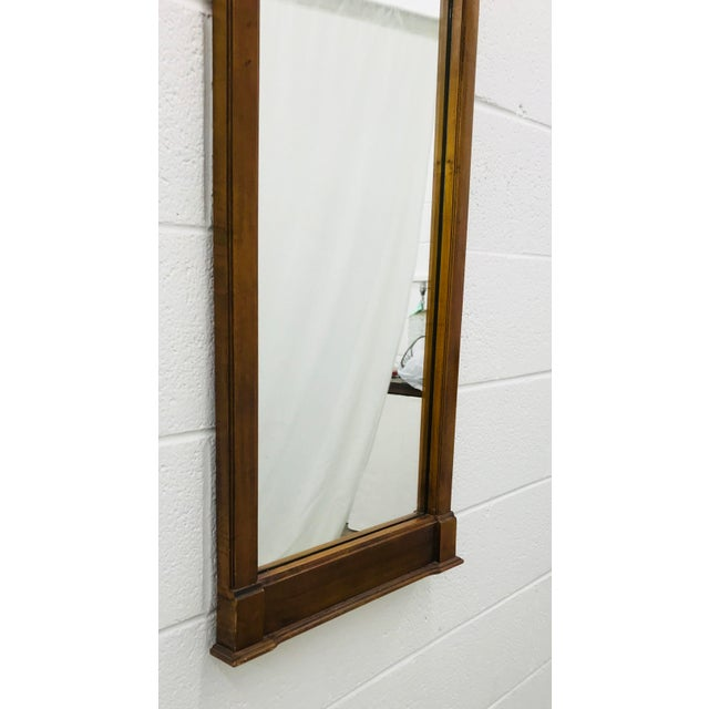 Gorgeous Vintage Wooden Empire Style Mirror with beautiful French Style Metal Appliqué Bracket at Top. Nice Narrow shape...
