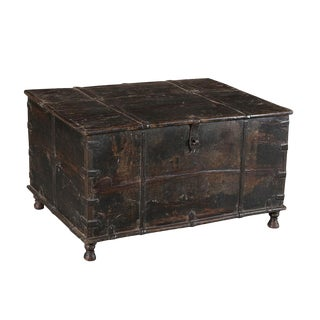 Antique Colonial Storage Trunk For Sale