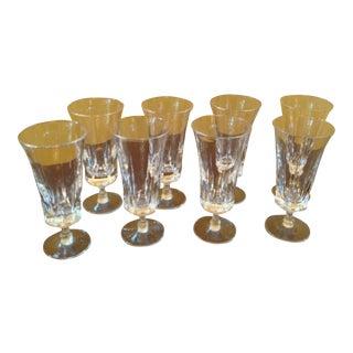1950s Vintage Crystal Parfait Glasses - Set of 8 For Sale