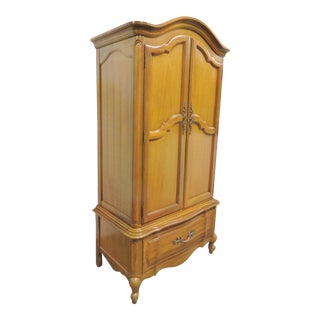 Thomasville Louis XV Style Cherry Armoire For Sale