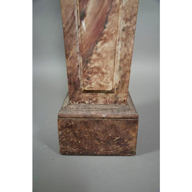 Wood European Faux Marble Wood Pedestal For Sale - Image 7 of 8