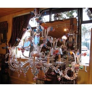Antique Venetian Glass Rezzonico Style Chandelier Preview