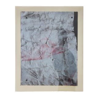 Crumpled Paper Mounted Behind Plexiglas For Sale