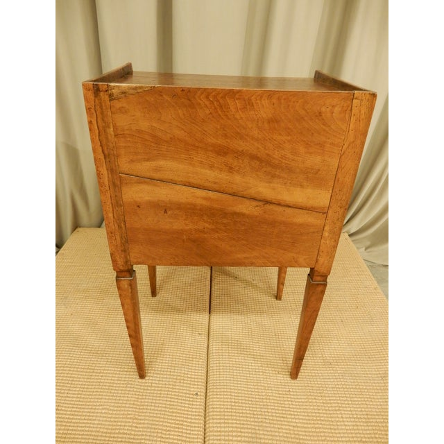 19th C. French Walnut Tambour Front Side Table For Sale - Image 4 of 7