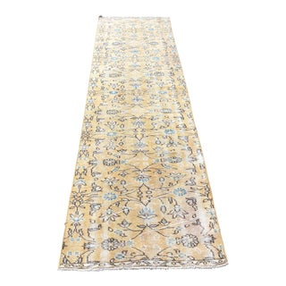 1960s Vintage Turkish Hand-Knotted Runner Rug - 2′6″ × 9′6″ For Sale