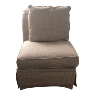 Bassett Armless Slipper Chair For Sale