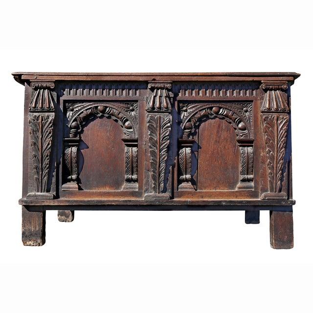 Charles II Oak Coffer For Sale - Image 12 of 12