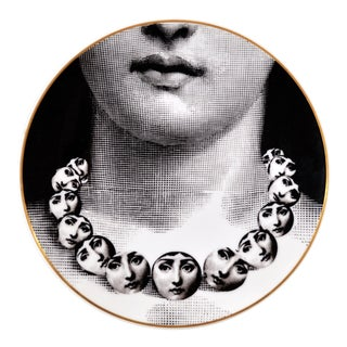 Rosenthal Piero Fornasetti Porcelain Plate, Themes & Variation Pattern, Motiv 16 1980s For Sale