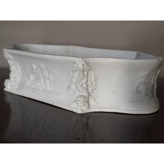Rectangular White Bisque Floral Tray - Image 3 of 9