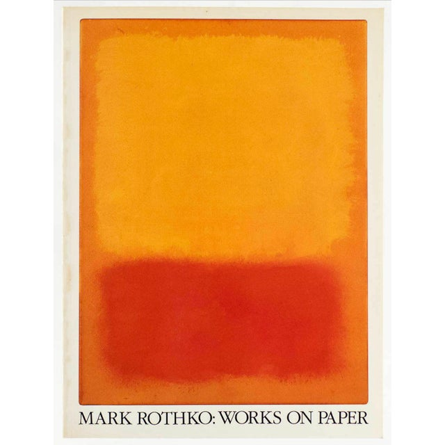 """"""" Mark Rothko : Works on Paper """" Vintage 1984 1st Edtn Abstract Expressionist Lithograph Print Exhibition Art Book For Sale - Image 13 of 13"""