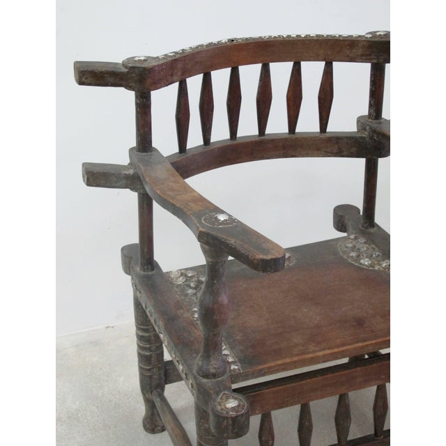 Rare 1950s Ashanti Throne Chair For Sale - Image 4 of 10