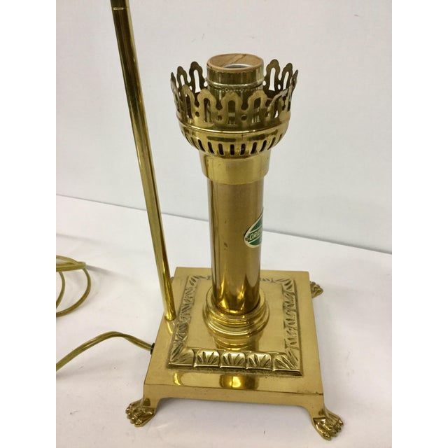 Vintage Paris Oriental Express Brass Table Lamp For Sale - Image 10 of 13