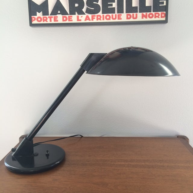 Vintage Black Metal Atomic Desk Lamp - Image 4 of 11