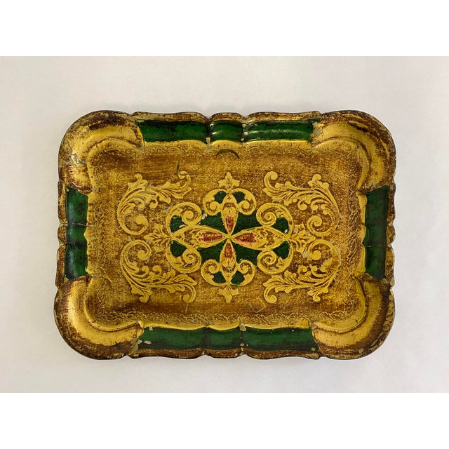 Gold Vintage 1960s Italian Florentine Tray For Sale - Image 8 of 8