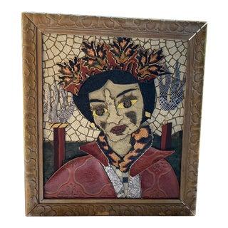 2001 Bill Miller Vintage Linoleum Assemblage Art For Sale
