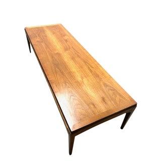 1960s Mid-Century Modern Lane Rhythm Walnut Coffee Table For Sale