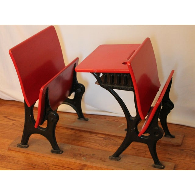 Antique Child's Sears and Roebuck Desk & Seat Set - Image 5 of 10
