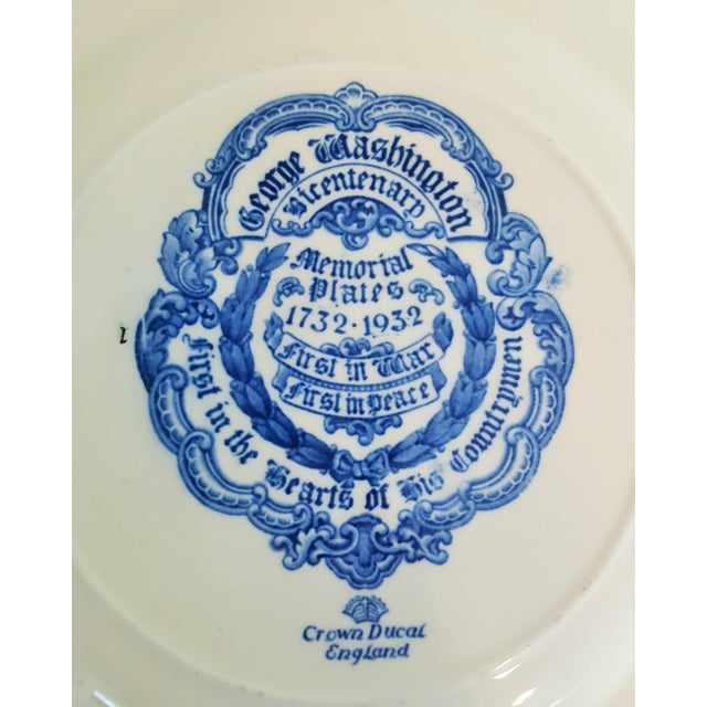 Vintage George Washington Bicentenary Memorial Plates 1732-1932 Crown Ducal England - Image 5 of 5