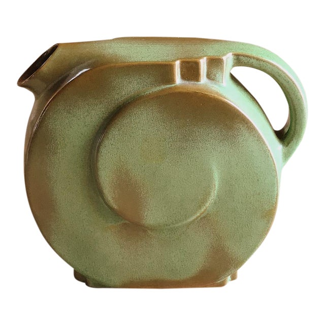 Olive Green Brown Pitcher Vintage Frankoma Pottery Chairish