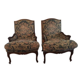 Antique Upholstered Chairs - A Pair