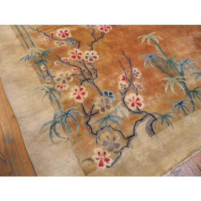 Antique Chinese Art Deco Rug For Sale - Image 4 of 8