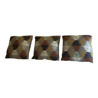 Modern Aztec Design Accent Pillows - Set of 2 For Sale