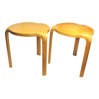 Mid-Century Modern Alvar Aalto Tables - a Pair For Sale