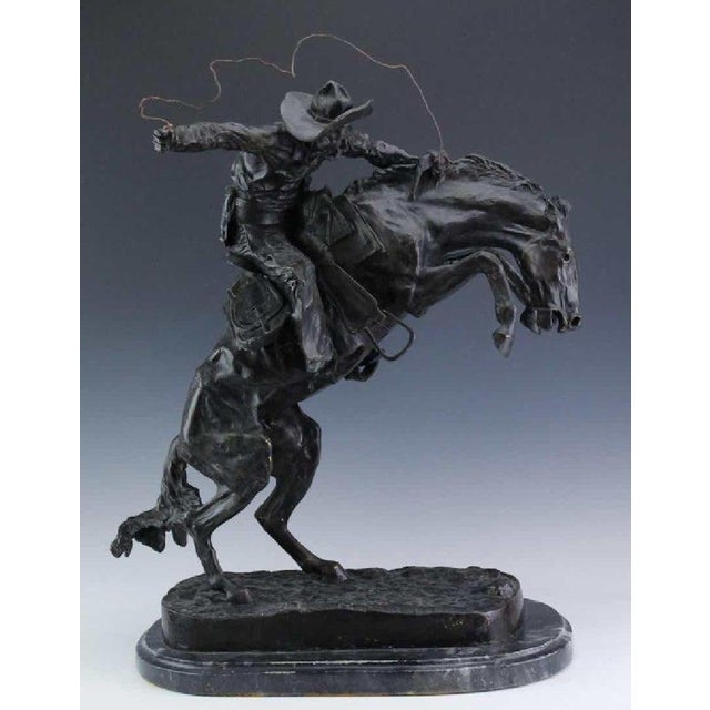 American Classical After Frederic Remington, Bronco Buster For Sale - Image 3 of 8