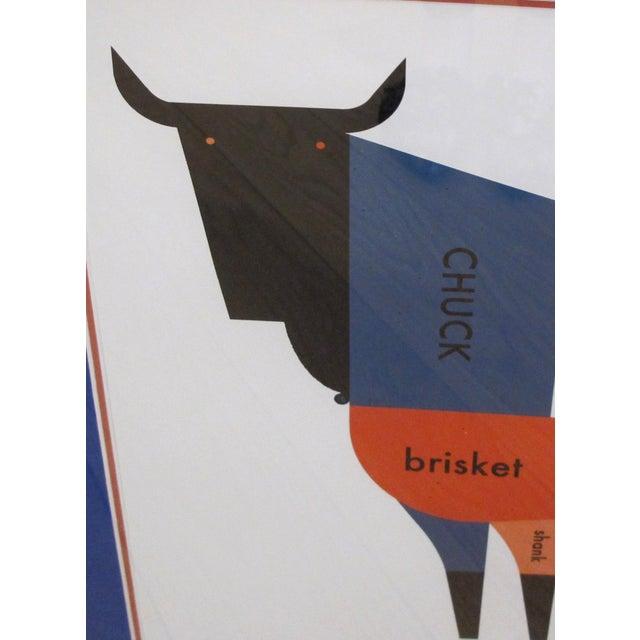 2011 Original Raymond Biesinger Geometric Meat Cut Butcher Chart (Framed) - Image 3 of 3