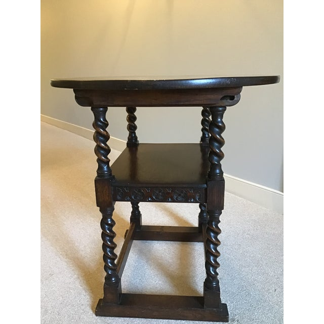 Antique Monk's Chair/Side Table For Sale In Richmond - Image 6 of 12