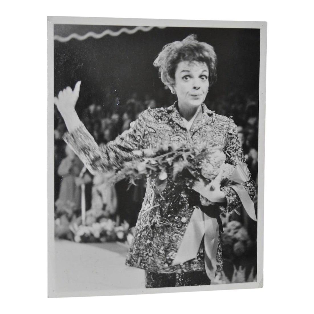 Judy garland original black white photograph c 1960s chairish