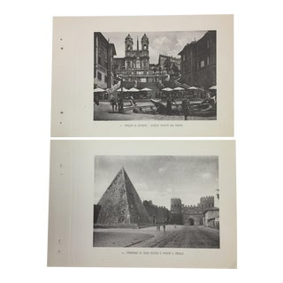 Antique Photogravures Rome, Italy - A Pair For Sale