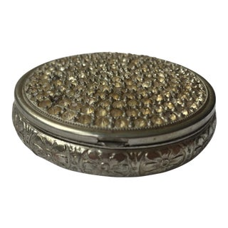Vintage Crystal Powder Compact For Sale