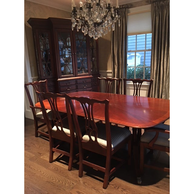 Drexel Heritage Dining Room: Drexel Heritage Mahogany Collectors Dining Room Set