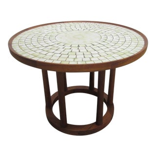 Ceramic Tile-Top Table by Gordon Martz For Sale