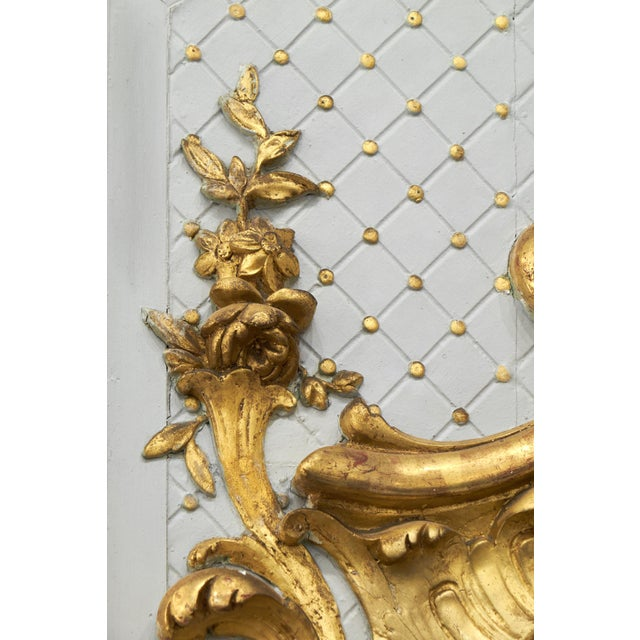 Giltwood 19th Century Louis XVI Gold Leaf Trumeau Mirror For Sale - Image 7 of 9
