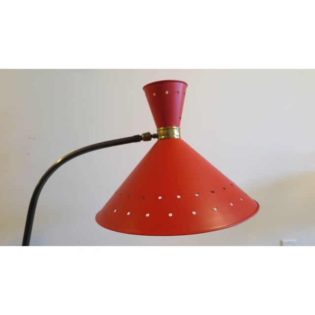 Brass 1950 Maison Lunel Floor Lamp For Sale - Image 8 of 10