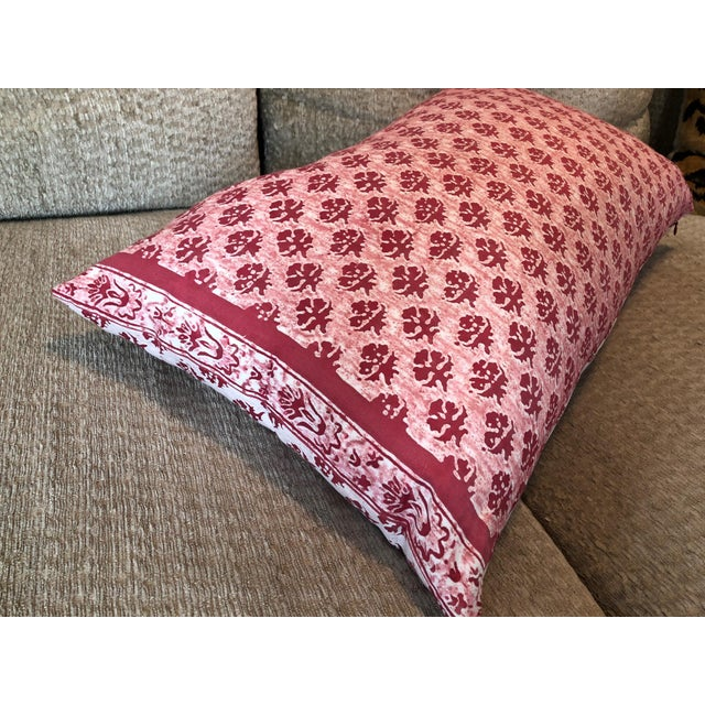 Early 21st Century Fortuny Pink Reversible Pillow For Sale - Image 5 of 6