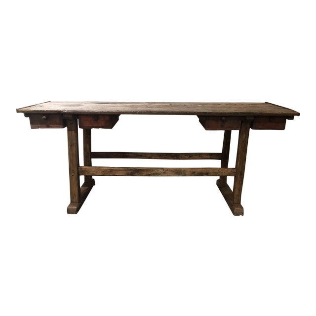 20th Century French Country Work Table For Sale