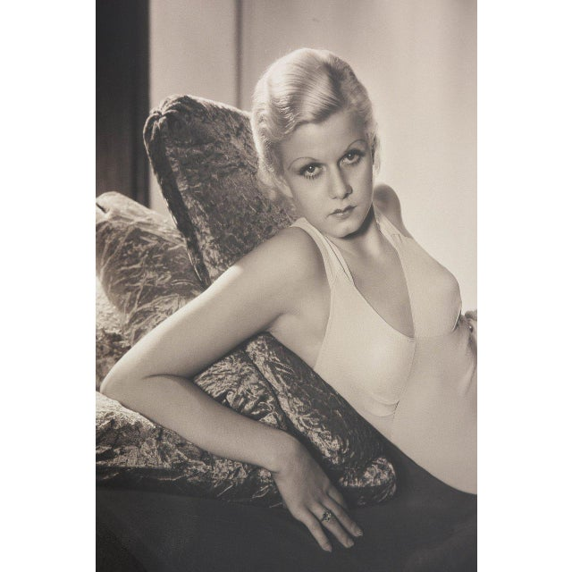 "Luminism Large-Scale, Iconic Photograph of Jean Harlow by George Hurrell 1932 - 37"" x 27.75"" For Sale - Image 3 of 8"