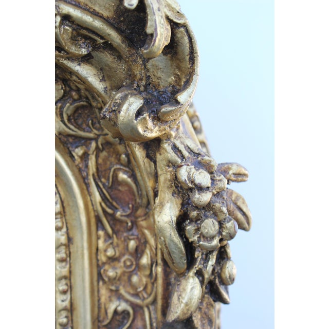 Ornate Carved Gilded French Mirror - Image 2 of 7